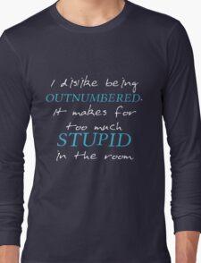 BBC Sherlock I dislike being outnumbered Long Sleeve T-Shirt