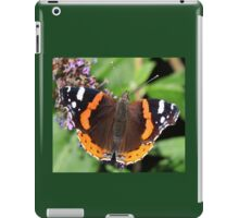 Red Admiral butterfly  111 iPad Case/Skin