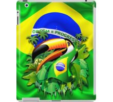 Toco Toucan with Brazil Flag iPad Case/Skin