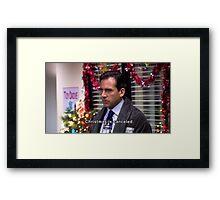 michael scott christmas is canceled  Framed Print