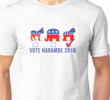 Vote Harambe 2016 Unisex T-Shirt