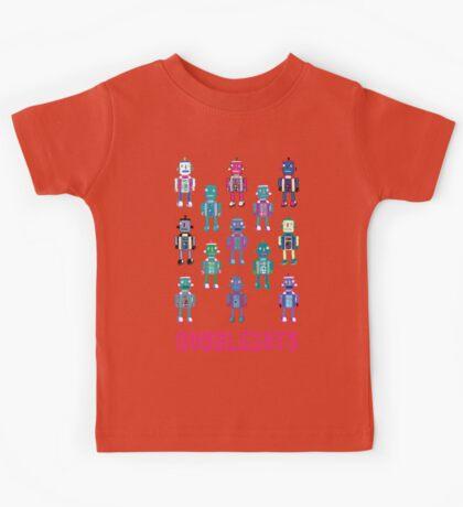 GoggleBots - robot pattern Kids Tee