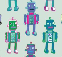 GoggleBots - robot pattern Sticker