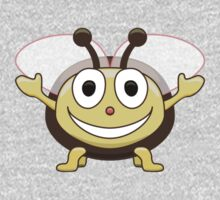 Cute Smiling Bee Kids T-shirt One Piece - Long Sleeve