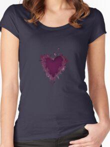 Butterfly Heart  Women's Fitted Scoop T-Shirt