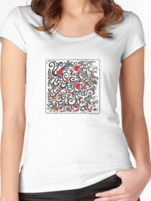 Heart Bloom Women's Fitted Scoop T-Shirt