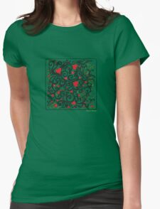 Heart Bloom Womens Fitted T-Shirt
