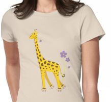 Funny Giraffe Womens Fitted T-Shirt