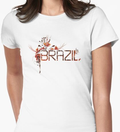 Flowering Brazil Womens Fitted T-Shirt