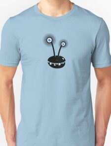 Funny Cartoon Alien With Halftone Eyes  T-Shirt