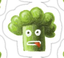 Funny Cartoon Broccoli Sticker