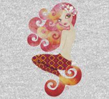 Coraleen, Mermaid in Pink One Piece - Short Sleeve