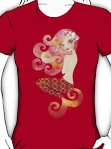 Coraleen, Mermaid in Pink T-Shirt