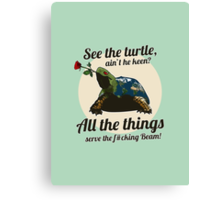 Keen Turtle Canvas Print