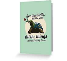 Keen Turtle Greeting Card