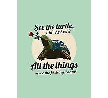Keen Turtle Photographic Print
