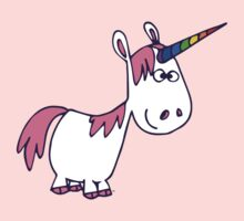Cute Rainbow Cartoon Unicorn by Cheerful Madness!! Kids Clothes