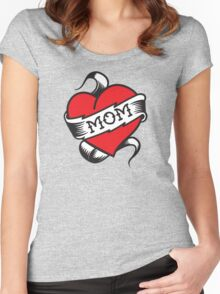 Mom Tattoo Women's Fitted Scoop T-Shirt