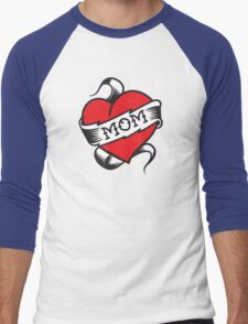 Mom Tattoo Men's Baseball ¾ T-Shirt