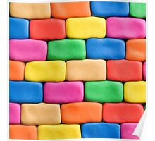 Building blocks made of play dough.modern,trendy,colorful Poster