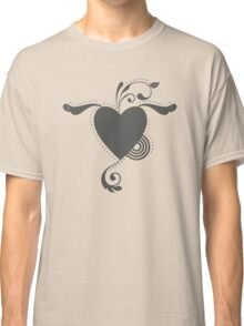 Cute Lovely Valentine Heart Vintage Grunge T-shirt Classic T-Shirt