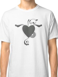 Cute Lovely Valentine Heart Vintage Grunge T-shirt Classic T-Shirt