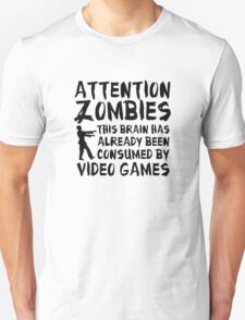 Attention Zombies T-Shirt
