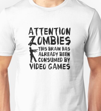 Attention Zombies Unisex T-Shirt