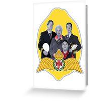 MJN crew/lemon Greeting Card
