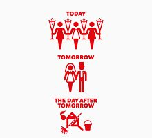 Today – Tomorrow – The Day After Tomorrow (Hen Party / Red) Womens Fitted T-Shirt