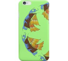 round pattern with colored ships iPhone Case/Skin