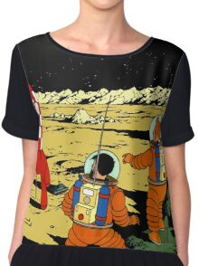 Explorers on the Moon Chiffon Top