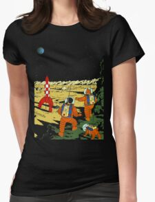 Explorers on the Moon Womens Fitted T-Shirt
