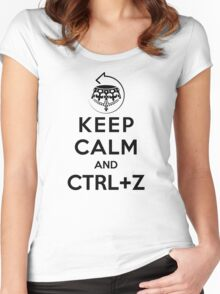 Keep calm and ctrl+z Women's Fitted Scoop T-Shirt