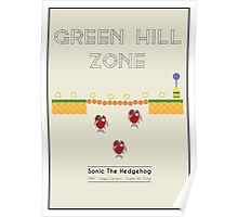 Sonic The Hedgehog - The Bridge- Green Hill Zone  Poster