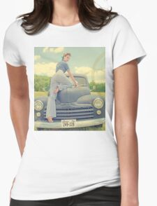 Vintage 1950s Pinup Womens Fitted T-Shirt