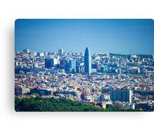 Barcelona City, Spain Canvas Print