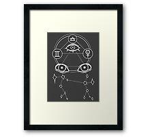 Real Eyes Realize Geminis White Framed Print