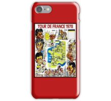 TOUR DE FRANCE; Vintage Bicycle Race Advertising Print iPhone Case/Skin