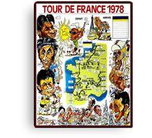 TOUR DE FRANCE; Vintage Bicycle Race Advertising Print Canvas Print