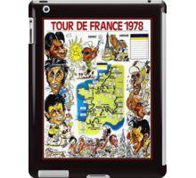 TOUR DE FRANCE; Vintage Bicycle Race Advertising Print iPad Case/Skin
