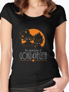 The Adventures Of Goku & Vegeta Women's Fitted Scoop T-Shirt