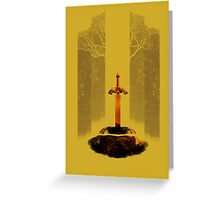 The Legend of Zelda: The Master Sword Greeting Card