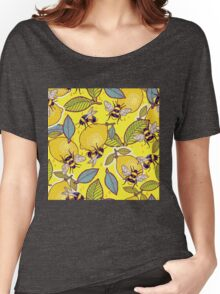 Yellow lemon and bee garden. Women's Relaxed Fit T-Shirt