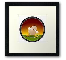 Precocious Chicken Framed Print
