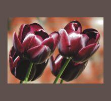 Singing of Spring - Quartet of Tulips Baby Tee