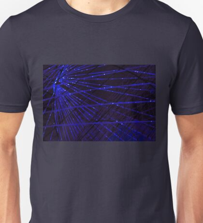 Abstract lens flare space or time travel concept background Unisex T-Shirt
