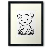Bear Sketch Framed Print