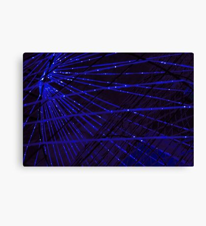 Abstract lens flare space or time travel concept background Canvas Print