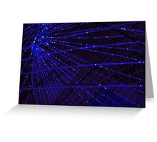 Abstract lens flare space or time travel concept background Greeting Card